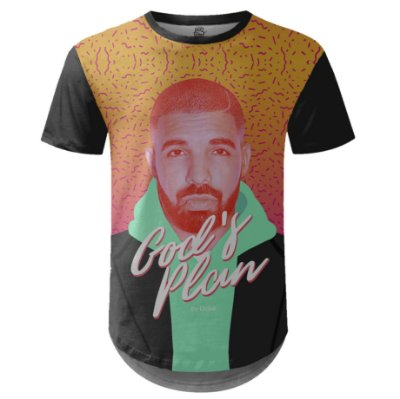 Camiseta Masculina Longline Drake Estampa digital md06
