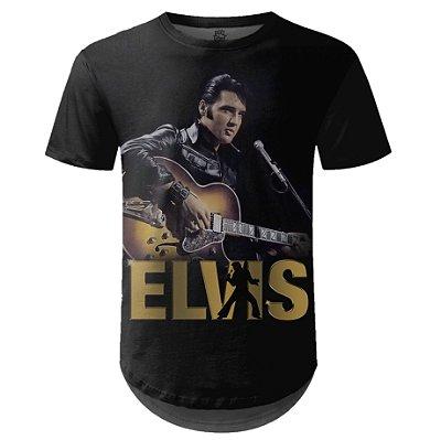 Camiseta Masculina Longline Elvis Presley md03