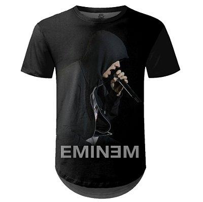 Camiseta Masculina Longline Eminem Estampa digital md02