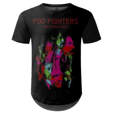 Camiseta Masculina Longline Foo Fighters md04
