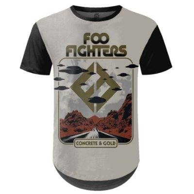 Camiseta Masculina Longline Foo Fighters md05