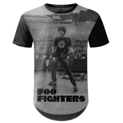 Camiseta Masculina Longline Foo Fighters md06