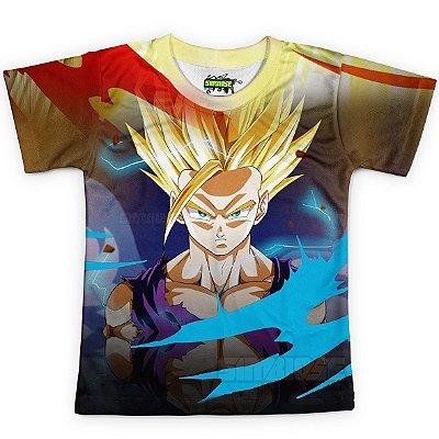 Camiseta Infantil Dragon Ball Super Gohan MD14