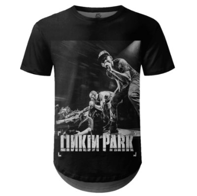 Camiseta Masculina Longline Linkin Park Estampa digital md03