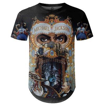 Camiseta Masculina Longline Michael Jackson md02
