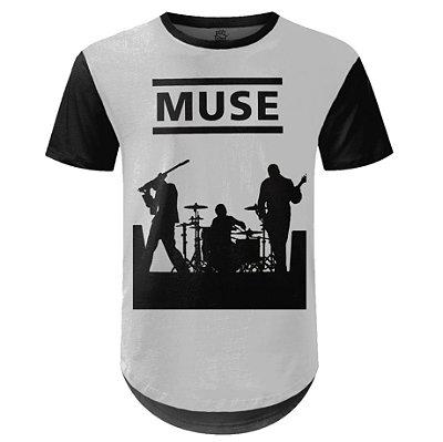 Camiseta Masculina Longline Muse Estampa digital md04