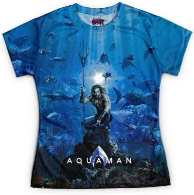 Camiseta Baby Look Feminina Aquaman MD02