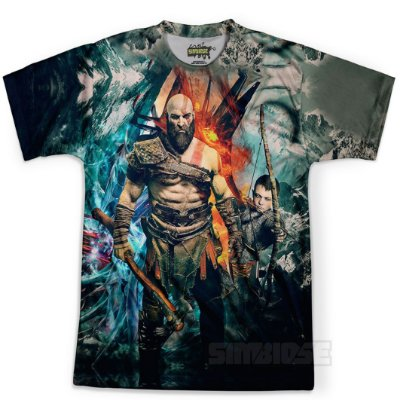 Camiseta Masculina God Of War Estampa Digital Md05