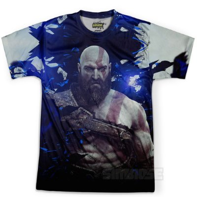 Camiseta Masculina God Of War Estampa Digital Md04