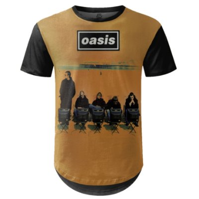 Camiseta Masculina Longline Oasis Estampa digital md01