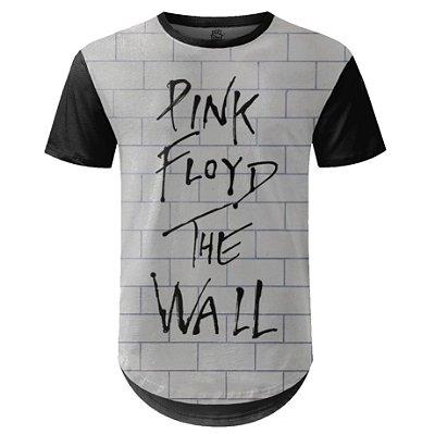 Camiseta Masculina Longline Pink Floyd Estampa digital md01