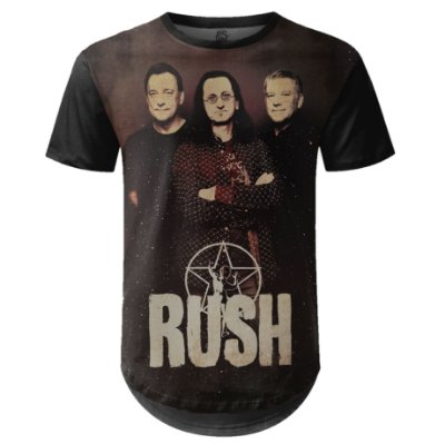 Camiseta Masculina Longline Rush Estampa digital md01