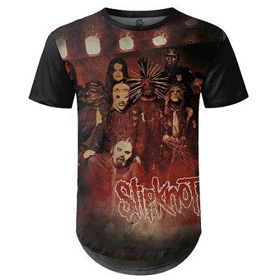 Camiseta Masculina Longline Slipknot Estampa digital md01