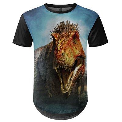 Camiseta Masculina Longline Sci-fi T-Rex md03