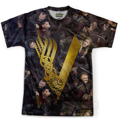 Camiseta Masculina Série Vikings Md02