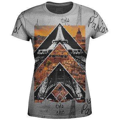 Camiseta Baby Look Feminina Paris Md01