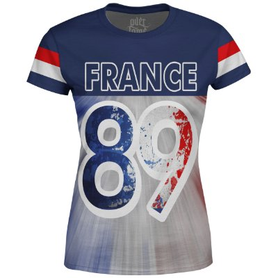 Camiseta Baby Look Feminina França France md01