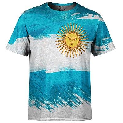 Camiseta Masculina Bandeira Argentina Md01