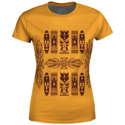 Camiseta Baby Look Feminina Étnica Tribal Africana Md08