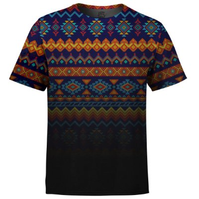 Camiseta Masculina Étnica Tribal Degradê Md02