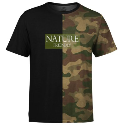 Camiseta Masculina Camuflada Nature Md06