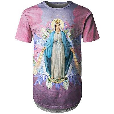 Camiseta Masculina Longline Santa Maria Floral