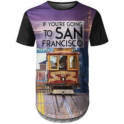 Camiseta Masculina Longline San Francisco Md01