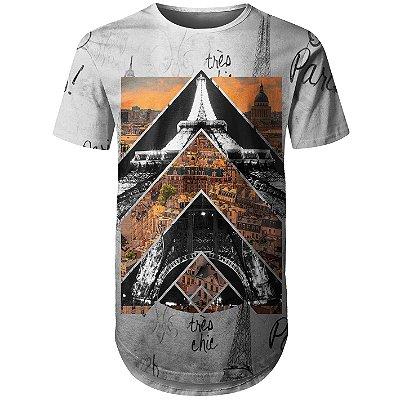 Camiseta Masculina Longline Paris Md01
