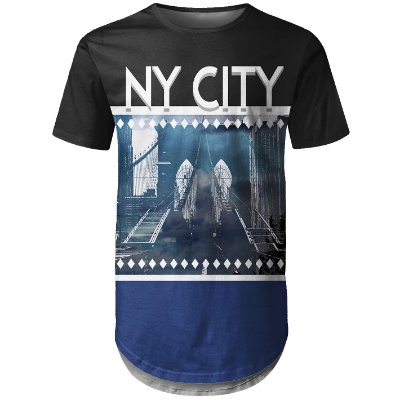 Camiseta Masculina Longline New York NY Md02