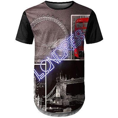 Camiseta Masculina Longline Londres Md02