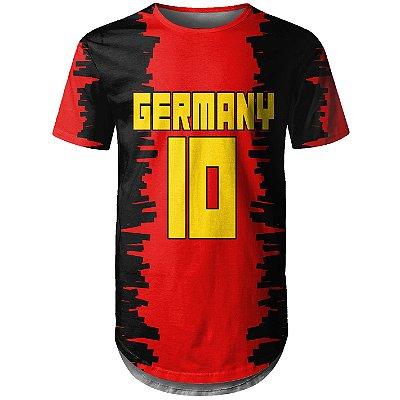 Camiseta Masculina Longline Alemanha Germany md01