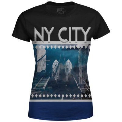 Camiseta Baby Look Feminina New York NY Md02