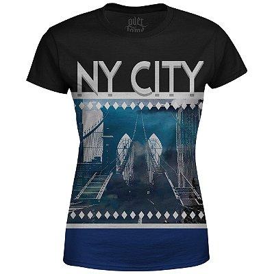 Camiseta Baby Look Feminina New York NY Md02