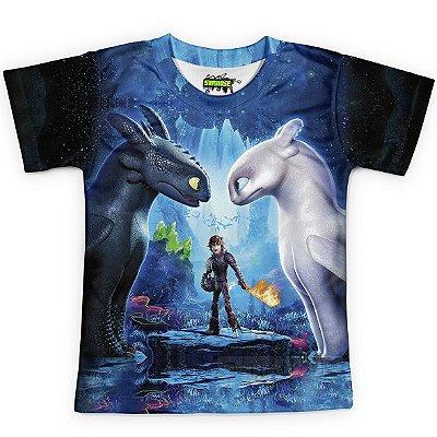 Camiseta Infantil Como Treinar o seu Dragão 3 MD3
