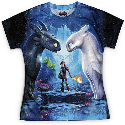 Camiseta Baby Look Feminina Como Treinar o seu Dragão 3 MD3