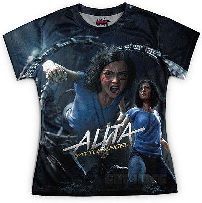 Camiseta Baby Look Feminina Alita Anjo de Combate MD01