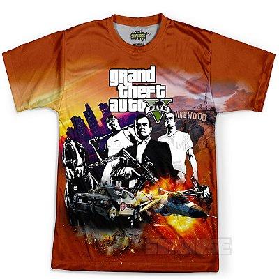 Camiseta Masculina GTA V Grand Theft Auto MD02