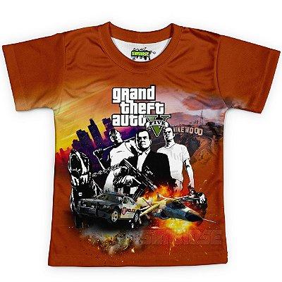 Camiseta Infantil GTA V Grand Theft Auto MD02