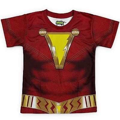 Camiseta Infantil Traje Shazam Md01