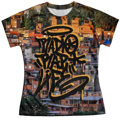 Camiseta Baby Look Feminina Rap Life md08