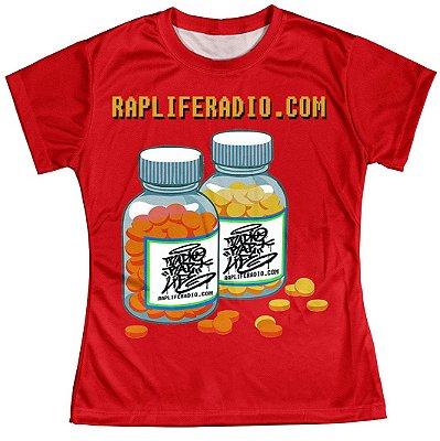 Camiseta Baby Look Feminina Rap Life md02