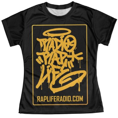 Camiseta Baby Look Feminina Rap Life md04
