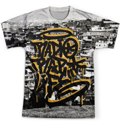 Camiseta Masculina Rap Life md09
