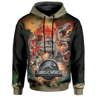 Moletom Unissex Com Capuz Jurassic World MD04
