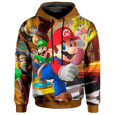 Moletom Com Capuz Unissex Mario Bross md01
