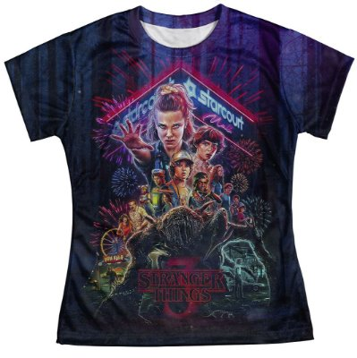 Camiseta Baby look Feminina Stranger Things MD04