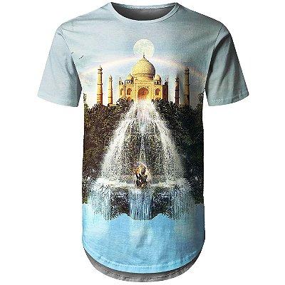 Camiseta Masculina Longline Taj Mahal Md01