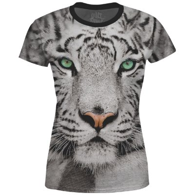 Camiseta Baby Look Feminina Tigre de Bengala md01