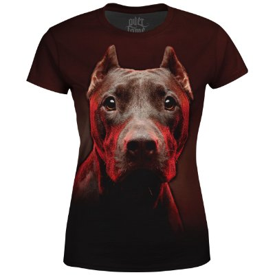 Camiseta Baby Look Feminina Pitbull md01