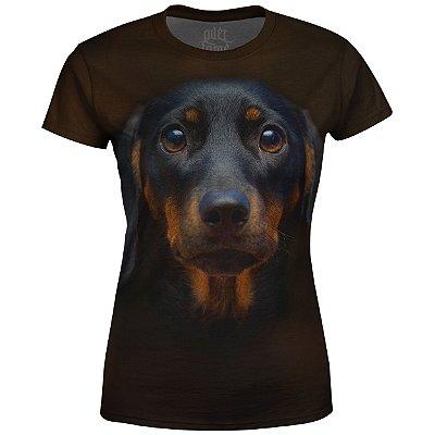 Camiseta Baby Look Feminina Basset md02
